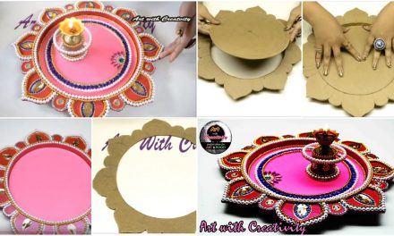 How to make decorated pooja thali
