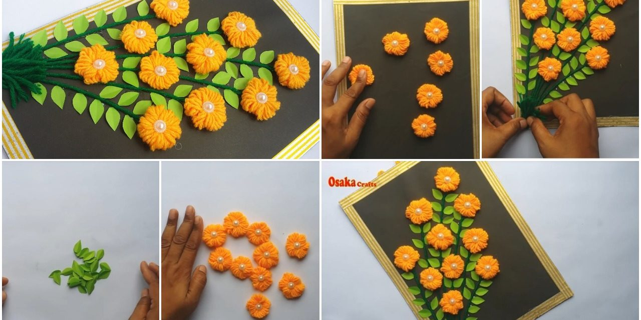 How to make woolen wall hanging for home decoration