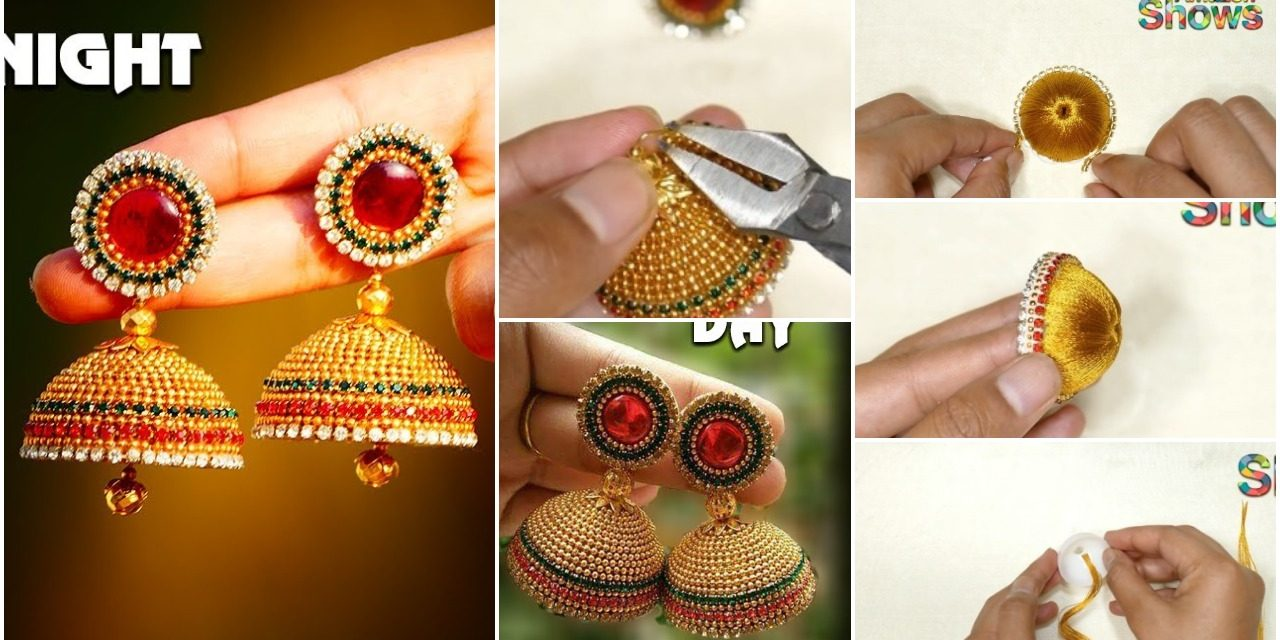 Simple and beautiful silk thread earrings