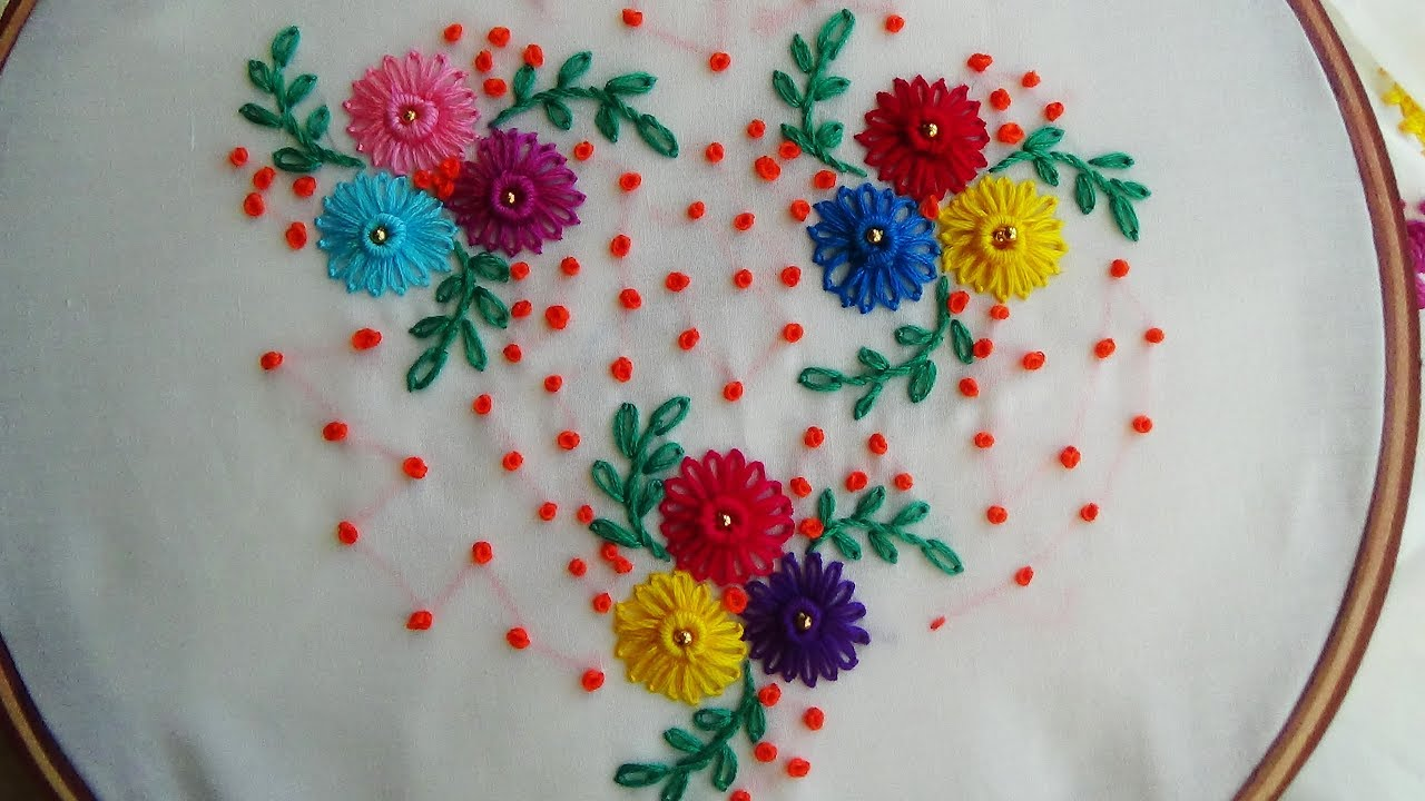 Hand Embroidery Lazy Daisy Stitch Simple Craft Ideas