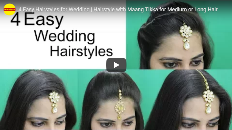 4 Easy hairstyles for wedding