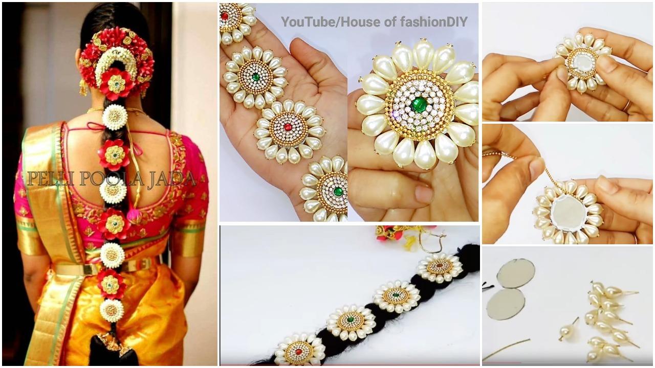 Bridal Hair Accessories Using Pearls
