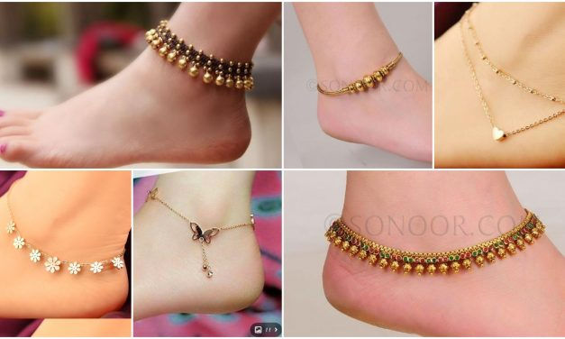 Gold anklets and leg chains