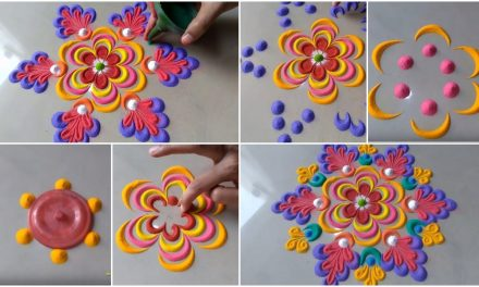 Beautiful attractive rangoli design