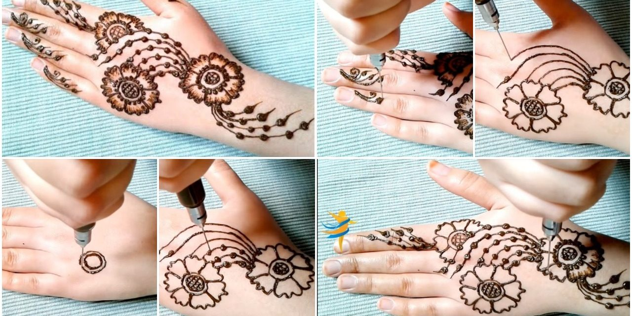 Henna for beginners with a simple and elegant design