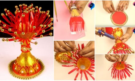 Flower pot making from waste plastic bottle