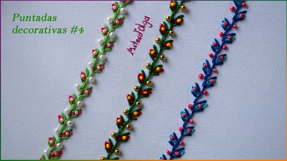 Hand Embroidery Decorative Stitches Simple Craft Ideas