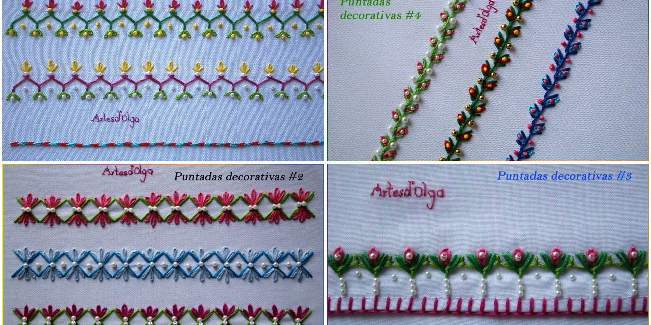 Hand embroidery decorative stitches