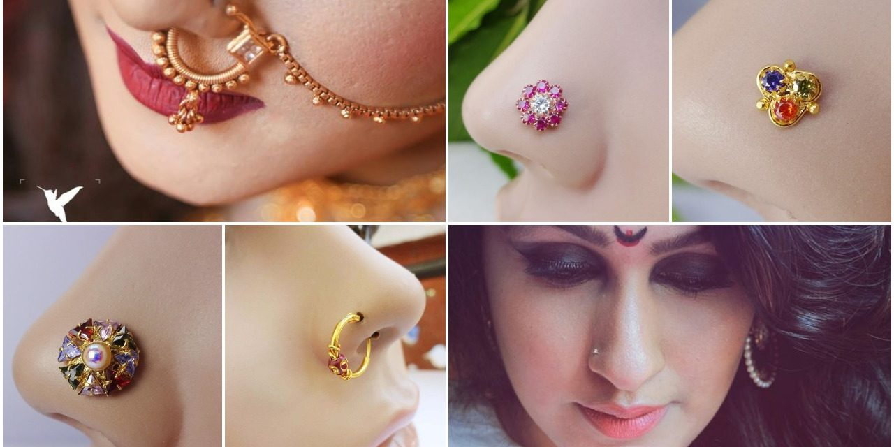 Trendy nose pin and nose ring