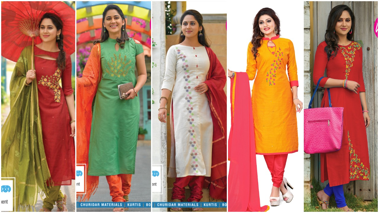 embroidery kurtis collection