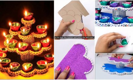 How to make dewali diya stand from plastic bottle