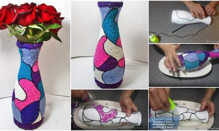 How to make handmade vase from a bottle