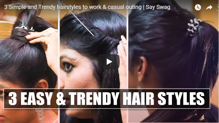 3 Simple and trendy hairstyles to work and casual outing