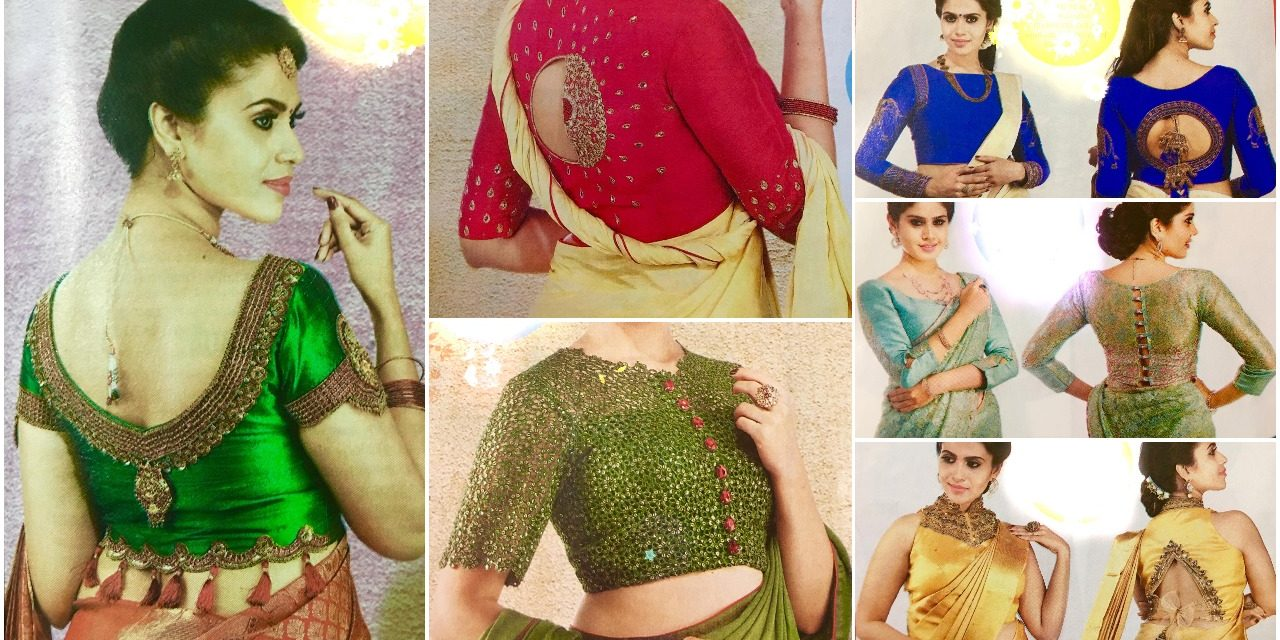 2019 year look- Blouse stylish designs for sarees