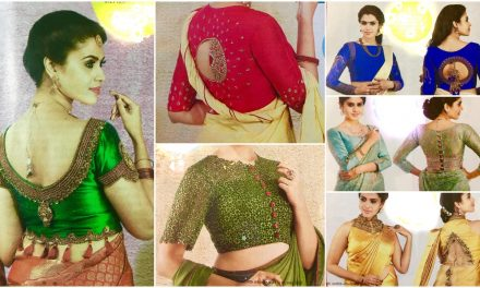 Stylish saree blouse and lehenga blouse designs
