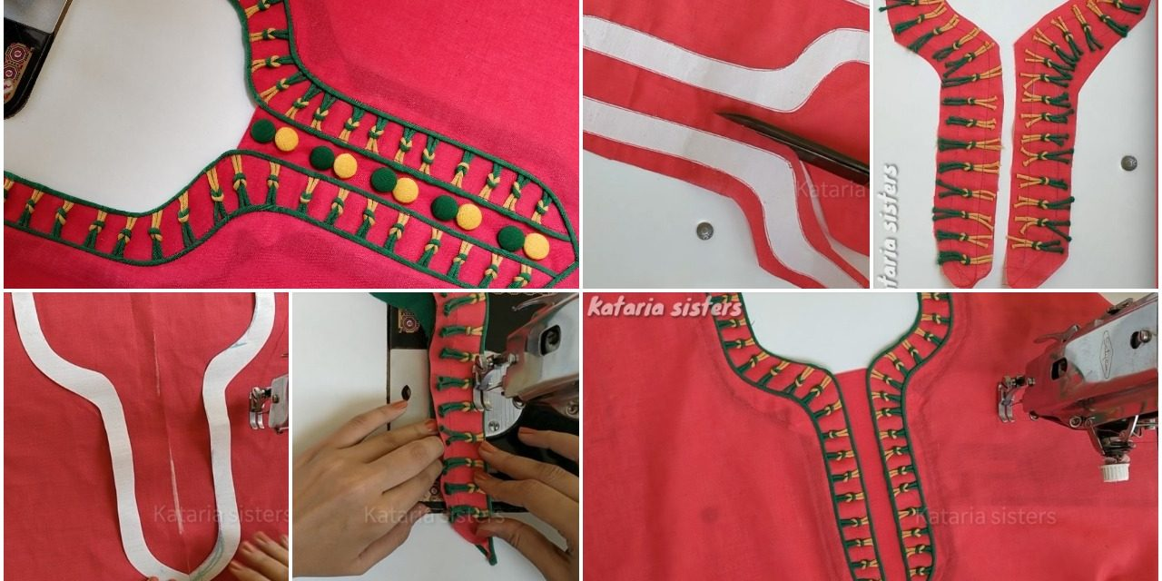 Stylish Neck Design Making For Kurti Simple Craft Ideas