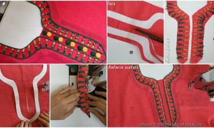Stylish neck design making for kurti