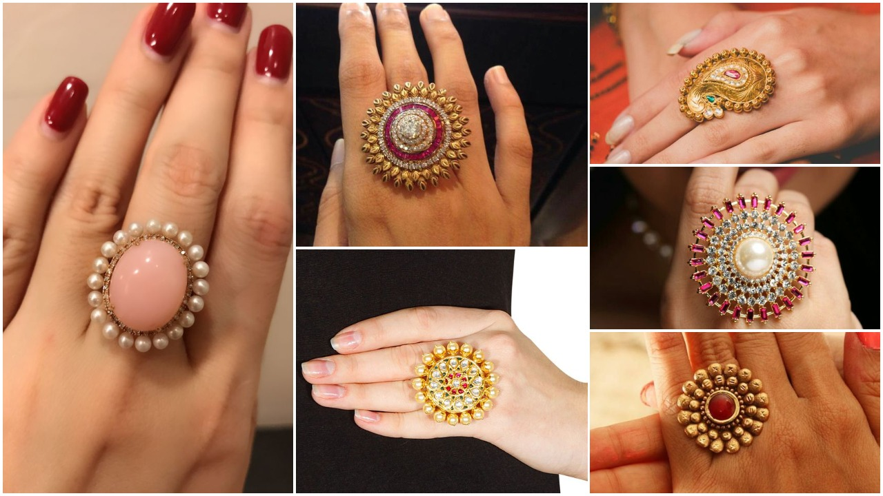 latest designs of gold rings for womens
