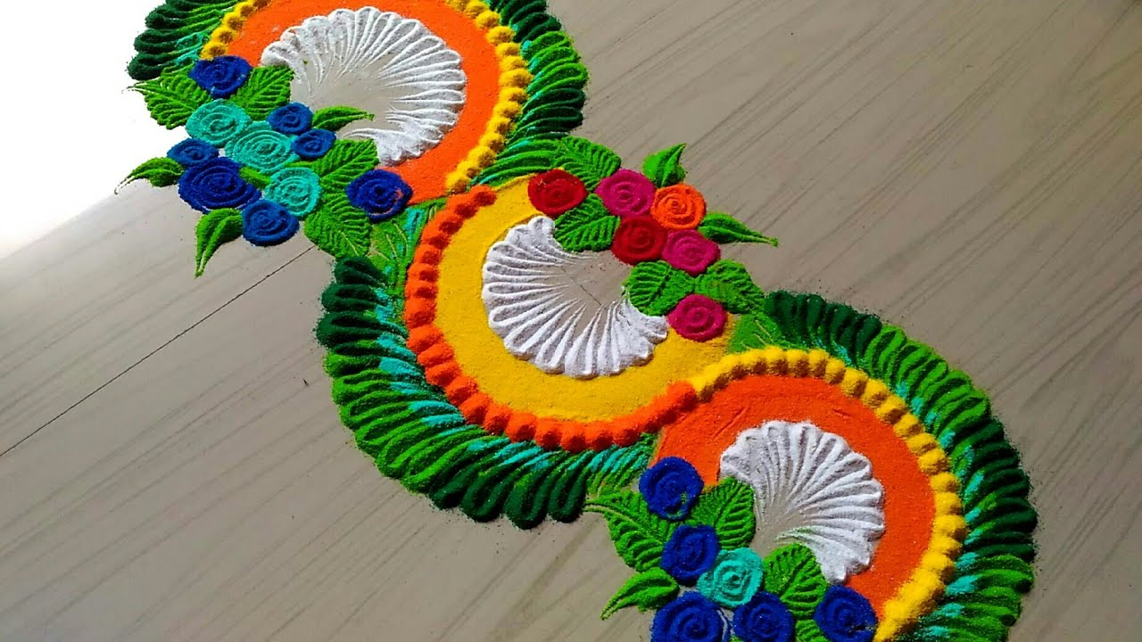 Beautiful Rangoli Designs With Colours Simple Craft Ideas