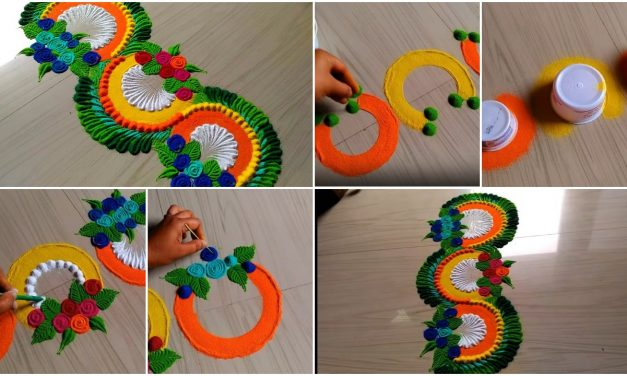 Beautiful rangoli designs with colours