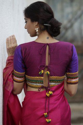 net blouse back neck designs