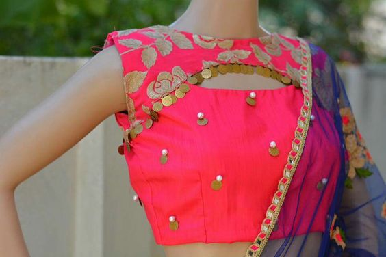 net blouse back neck designs