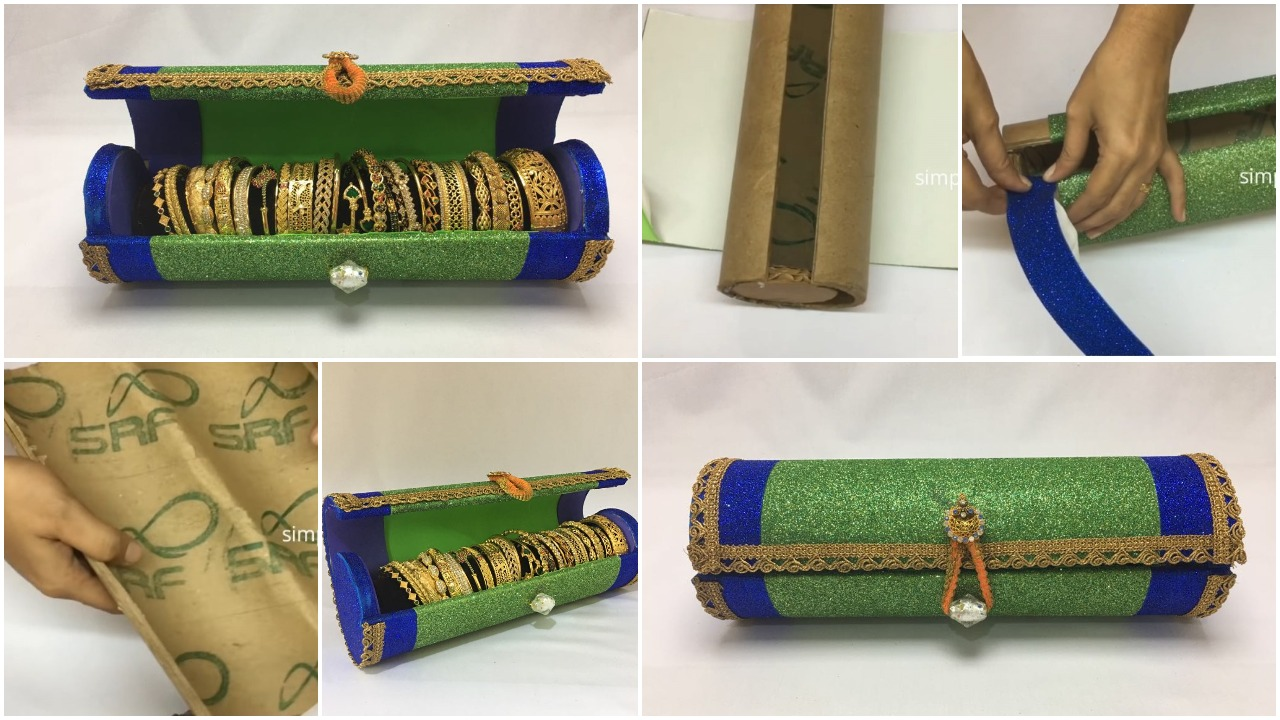 how to make bangle box at home step by step