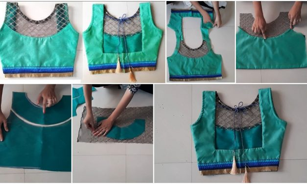 Designer blouse cutting and stitching
