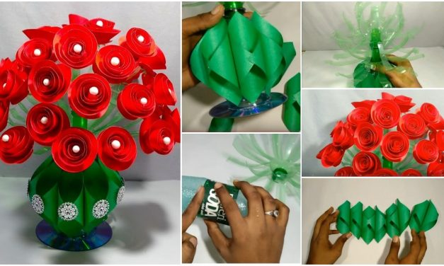 How to make paper flower guldasta