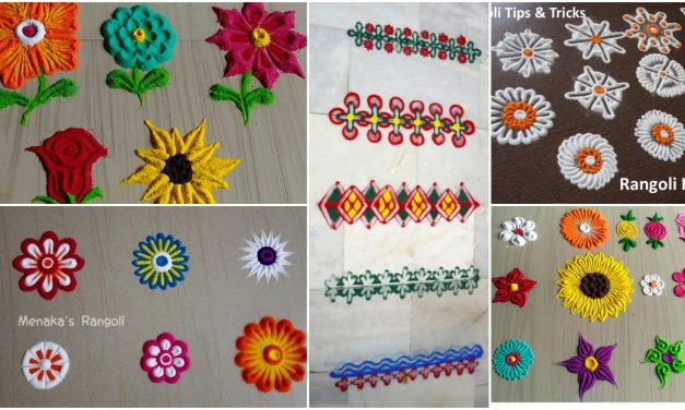 Rangoli tricks and tips for beginners