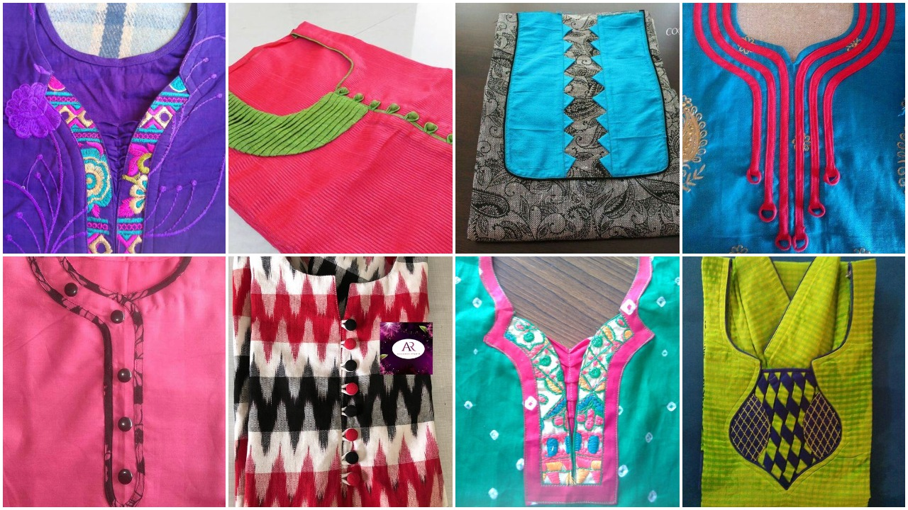 stylish neck designs for kurtis 2 1
