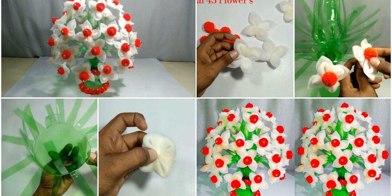 How To Make Flower Pot From Plastic Bottle Simple Craft Ideas