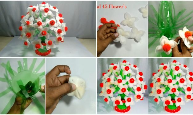 How to make flower pot from plastic bottle