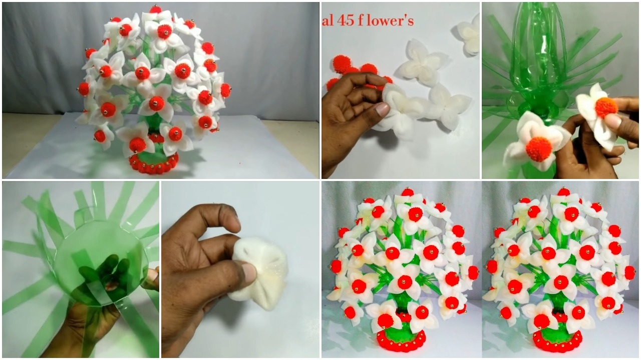 plastic flower pot crafts