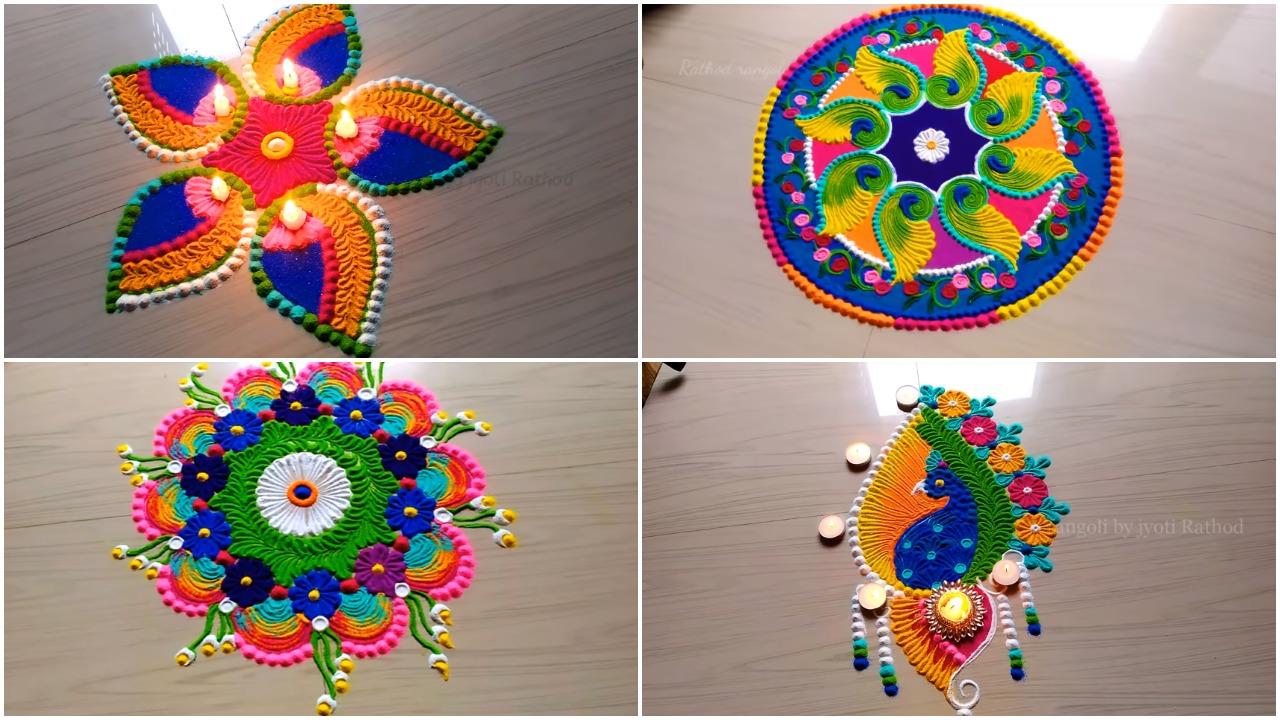 navratri sanskar bharti rangoli designs