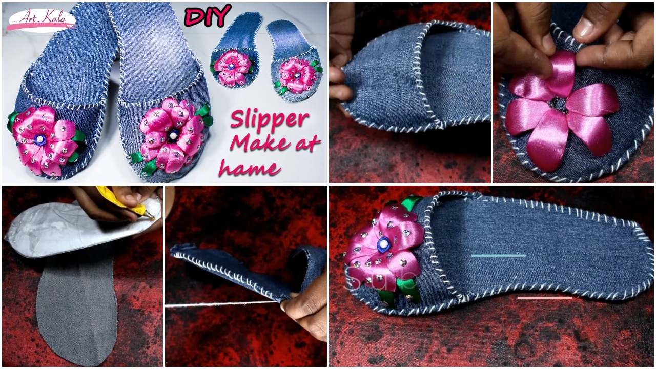 how to make slippers with beads