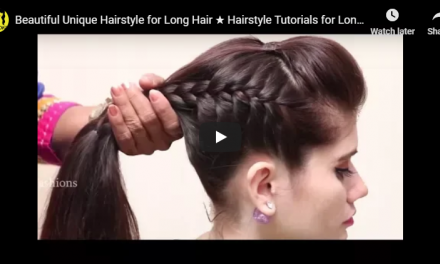 Beautiful unique hairstyle for long hair