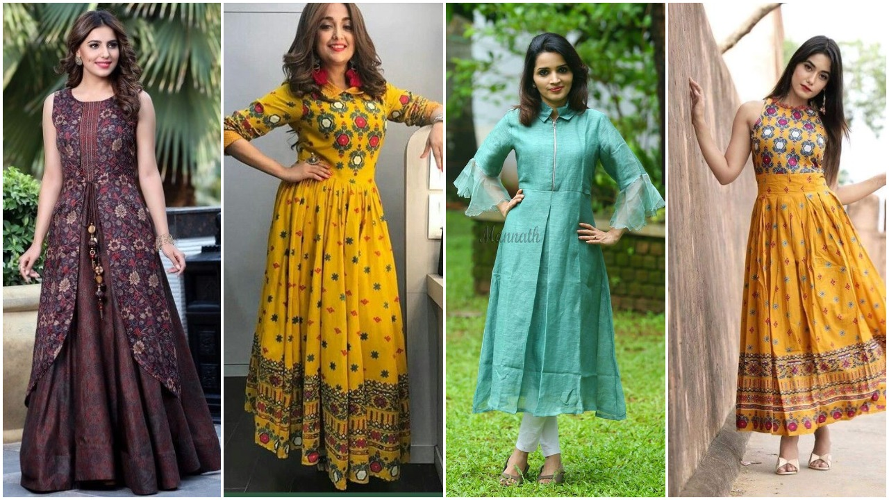 New trendy designs of long kurti