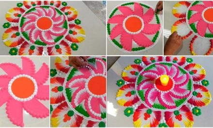 How to make beautiful rangoli design