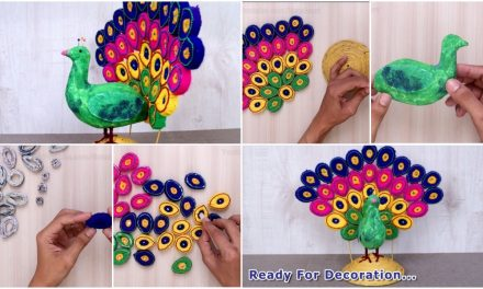 How to make a beautiful showpiece Peacock