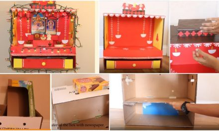 How to make an elegant pooja room from card boards