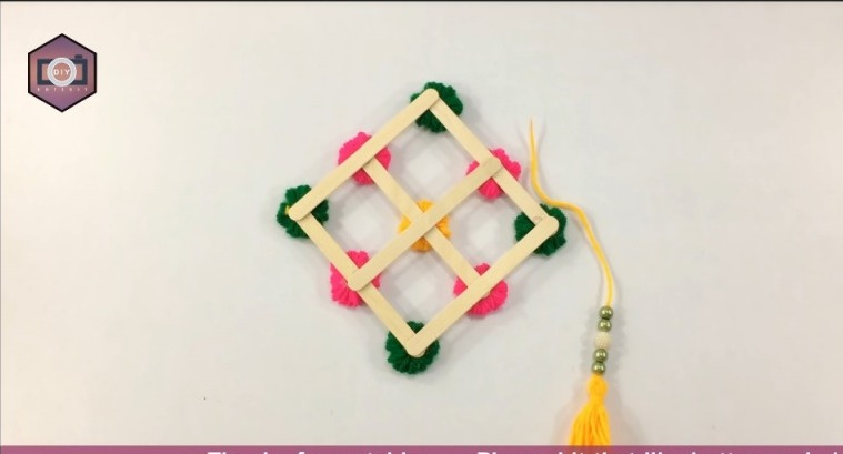 Hello friends,use waste wool and Popsicle Stick to make this amazingly beautiful wall hanging and decorate your home .Enjoy this diy craft step by step as it is easy and beautiful.