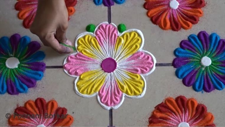 Easy rangoli designs