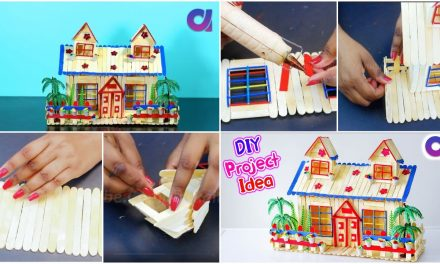 House building from popsicle stick