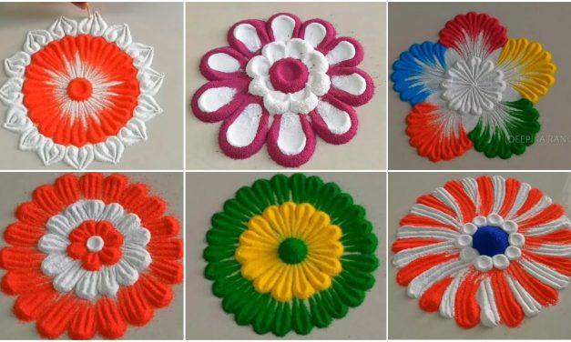 Basic rangoli flowers for festivals