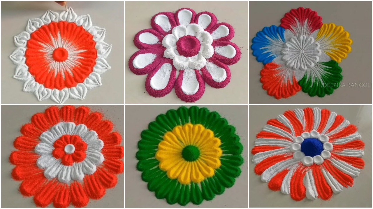 Rangoli Designs for Beginners. Browse Super Easy, Simple and Beautiful design for Diwali and other occasions. Here you can find step by step and how to make easy rangoli ideas