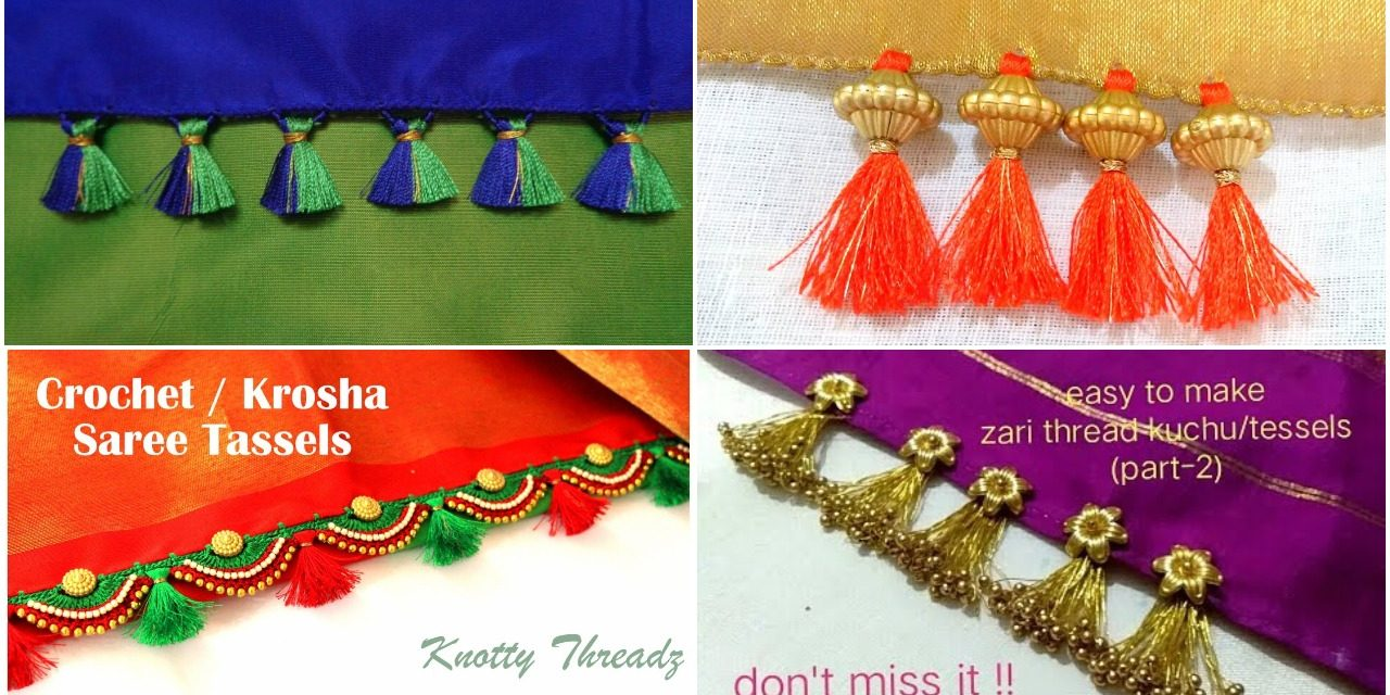 How to make easy and latest tessels for fancy and silk Sarees
