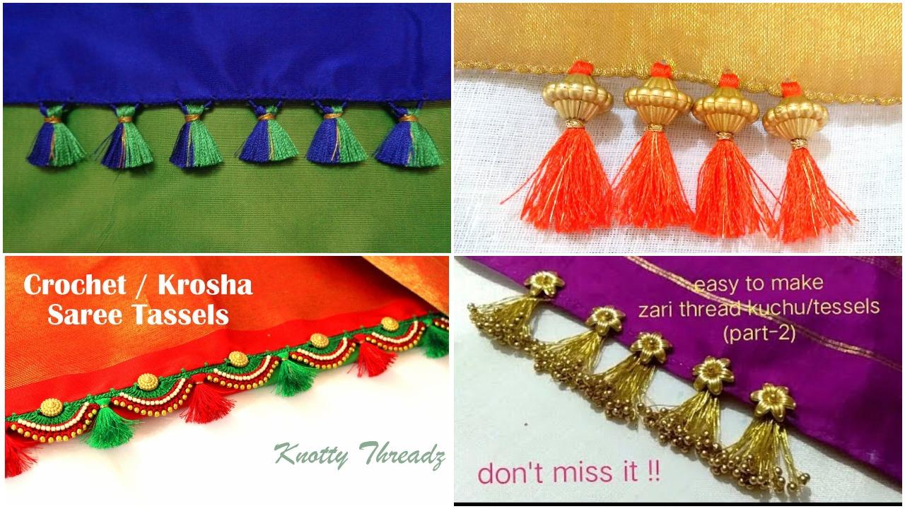 newest design for saree tassels