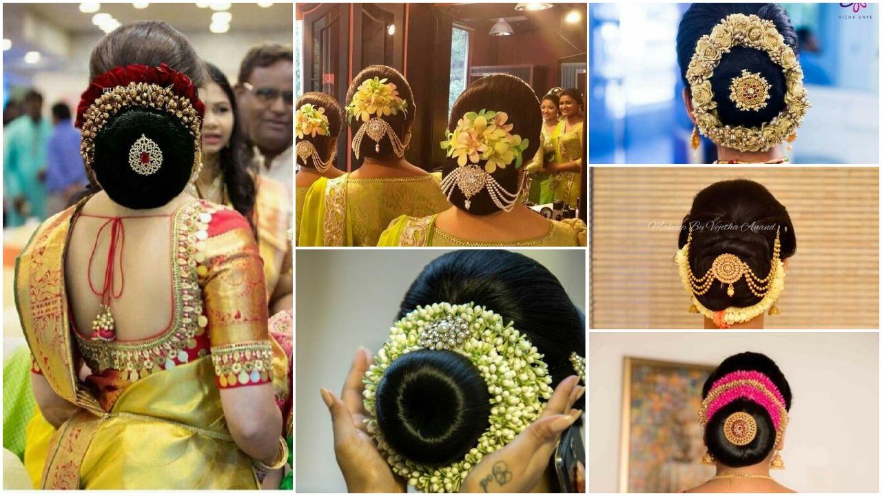 Iindian bridal bun hairstyle (20)