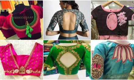 Bridal saree blouse back neck designs